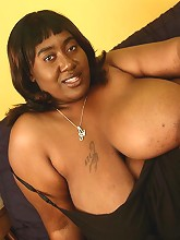 Titties is big all over and gets oiled up