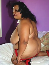 Nila is a very erotic woman. Watch her fondling her big natural titties and stroking her sweet spot while in complete ecstasy