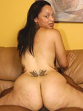 This lovely slut might be light skinned, but her chocolate pie isn't any less sweet! She's packing ass for days, with dick sucking lips like no other. Take her cock slurping skills for a test ride and you won't be dissapointed.